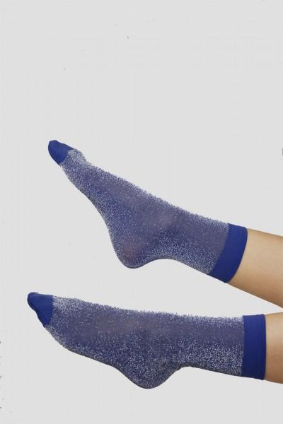 Socquette Lurex Bleu Marmara