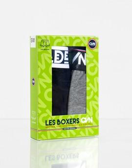 LES BOXERS CVN // Gris & Marine // Boite de 2 boxers