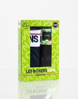 LES BOXERS CVN // Noir & Marine // Boite de 2 boxers