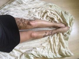 Collant effet tatouage