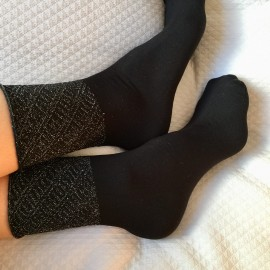 Socquettes stella noire/argent