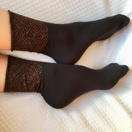 Socquettes stella noire/bronze