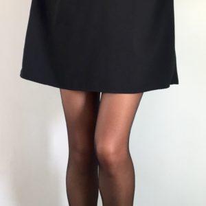Collant Noir Lycra avec robe noir