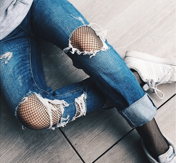 jean et collant en hiver