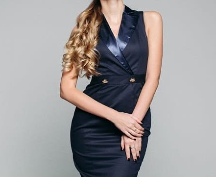 robe bleu marine classe